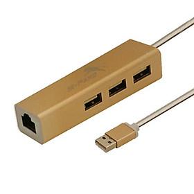 HUB CHUYỂN USB 2.0 RA 3 USB 2.0 + LAN M-PARD - HÀNG NHẬP KHẨU