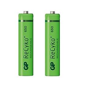 Pin Sạc GP Recyko+ AAA Dung Lượng 650mAh GP65AAAHCE-2GBAS2 (2 Viên/Vỉ) - Hàng Chính Hãng
