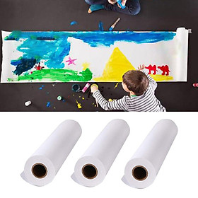 3Roll 5/10/25m Art Craft Easel Paper Roll Kids Drawing Finger Painting Creation
