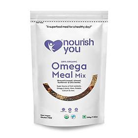 Hạt Mix 4 loại hạt (Hạt Lanh, Hạt Hướng Dương, Hạt Chia, Hạnh Nhân) Omega Meal Mix Nourish You 200g