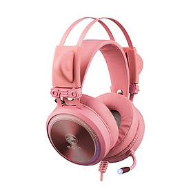 Tai nghe Gaming E-Dra EH412 Pro Pink 7.1 Led RGB - Hàng Chính Hãng