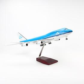 MÔ HÌNH MÁY BAY B747 KLM 47CM EVERFLY (LED)