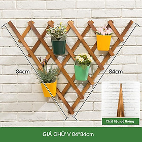 Kệ để chậu hoa trồng cây cảnh chất liệu gỗ thông kệ trang trí treo tường, ban công phong cách Bắc Âu
