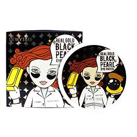Mặt Nạ Đánh Bay Quầng Thâm Mắt Dewytree Real Gold Black Pearl Eye Patch (60 Miếng)