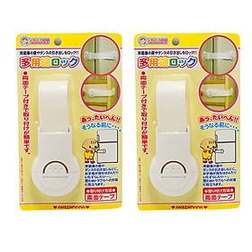 Combo 2 Khóa ngăn kéo, tủ lạnh bảo vệ trẻ em nội địa Nhật Bản