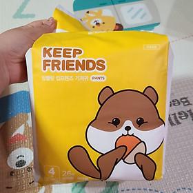 Tã quần nội địa Hàn Quốc Enblanc Keep Friend size 4 bé gái (L 26 miếng)-3