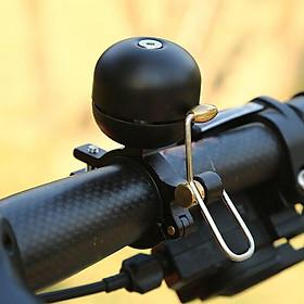 Retro Style Bicycle Bell Crisp Sound Aluminum  Bell Black