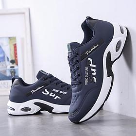 Giày Sneaker thể thao nam buộc dây, đế cao su nguyên khối, đế nén khí đàn hồi G147