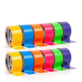 Unique Multi Colored Duct Tape Fun DIY Art Kit For Kids Craft Paper Tape Set Colorful Masking Tapes Holiday Party Decorations