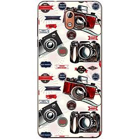 Ốp lưng dành cho  Nokia 3.1  mẫu Máy ảnh đen đỏ