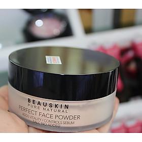 Phấn phủ bột Beauskin Perfect Face Powder Hàn Quốc 30g #21 Natural Beige tặng kèm móc khoá-5