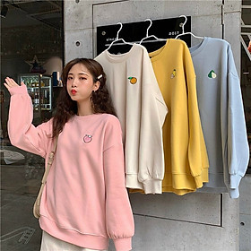 Áo Sweater Nỉ Bông Trái Cây Thêu - TM05