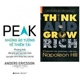 Combo sách kinh tế hay nhất định ai cũng phải đọc : Những ảo tưởng về thiên tài + Think and grow rich- 13 nguyên tắc nghĩ giàu làm giàu - Tặng kèm bookmark thiết kế