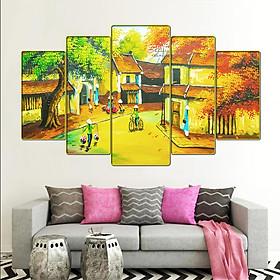 Tranh treo tường phòng khách, phòng ngủ, phòng ăn phong cảnh đồng quê việt nam:4451L5F