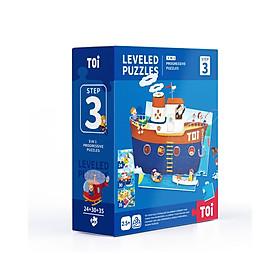 Bộ xếp hình nhiều cấp độ Mideer Advanced Puzzle TOI WORLD có từ level 1 đến level 7
