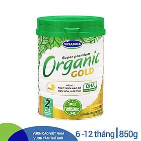 Sữa Bột Vinamilk Organic Gold Step 2 (850g / Hộp Thiếc)