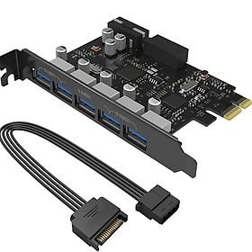 Card chuyển đổi PCI-Express 7 Port USB 3.0 cho máy tính bàn ORICO PVU3-502I (Đen)- Hàng nhập khẩu