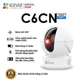 Camera WI-FI EZVIZ C6CN-H.265, 2MP, Ture WDR, Trong Nhà Đàm Thoại 2 Chiều, theo Phát Hiện Người Chuyển Động Thông Minh--Hàng Chính Hãng