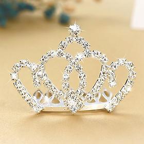 Vương miện cài tóc công chúa đính đá lấp lánh cho bé gái phối đầm đi tiệc – P136