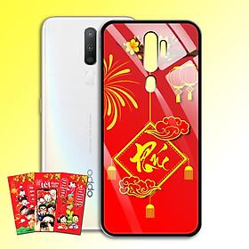 Ốp Lưng Kính Cường Lực cho điện thoại Oppo A5 2020 - 0382 7972 PHUC04 - Tặng kèm bao lì xì Chúc Mừng Năm Mới - Hàng Chính Hãng