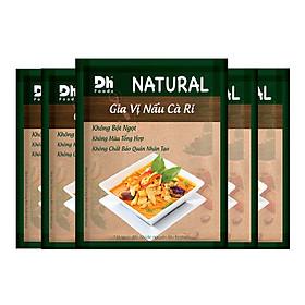 Combo 5 gói Natural Gia Vị Nấu Cà Ri 10gr Dh Foods