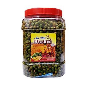Hạt đậu hà lan rang tỏi ớt loại 1 (Giòn ngon - đậm vị) thương hiệu Nàng Khô 500g
