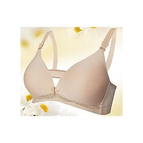 Hình đại diện sản phẩm Áo Ngực Bà Bầu Mở Khuy Tiện Lợi- Kem