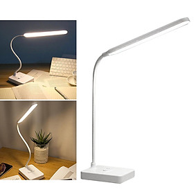 Desk Lamp Eye Protection LED Lamp Flexible Bedside Table Desk Lamp LED Reading Desk Light White