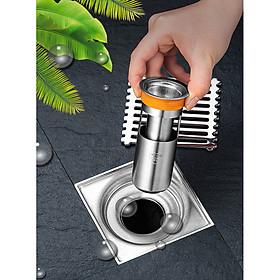 Phụ kiện Ngăn mùi nhà tắm - INOX 304 lắp thoát sàn chống mùi hôi ngăn vi khuẩn trào ngược lên – DH2011