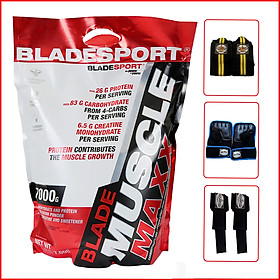 Sữa tăng cân – tăng cơ nhanh Blade Muscle Maxx 7000g (15.4Lbs) – Hỗ trợ tăng cân, tăng sức mạnh, phát triển cơ bắp dành cho người chơi thể hình và thể thao - Vị Chocolate – Thương hiệu Châu Âu - Hàng chính hãng - Kèm quà tặng