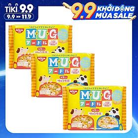 Combo 3 gói Mì ăn dặm cho trẻ trên 1 tuổi Nissin MUG Cup Noodle 96g (Mỗi gói gồm 4 túi mì nhỏ bên trong, 2 hương vị)