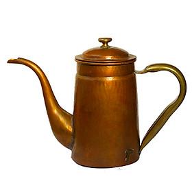 Ấm rót cổ ngựa pha trà cà phê đồng đỏ Hammer S800 Hàn Quốc 800ml