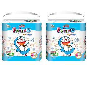 Combo 2 gói tã quần Goo.n Friend M54 thiết kế mới - tặng đồ chơi Toys house-0