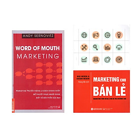 Combo Sách Kỹ Năng Marketing: Word Of Mouth Marketing +  Marketing Cho Bán Lẻ