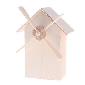 Plain Wood Windmill Money Boxes Wooden Piggy Bank Money Saving Box Kids DIY
