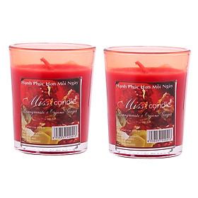 Bộ 2 ly nến thơm votives Miss Candle FtraMart NQM0413 (Chọn 11 mùi hương)