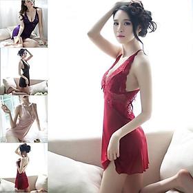 Đầm Ngủ Sexy Đồ Ngủ Nữ ️Chất Đẹp - Có Video Thật️ Ren Mềm Mịn Đầm Ngủ Nữ Quyến Rũ(VV)