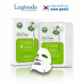 Combo 7 Mặt nạ dưỡng ẩm trắng da giúp kiềm dầu và mụn Hàn Quốc Lagivado Hydra Calming Facial Mask 23g/miếng