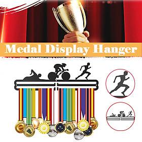 Metal Medal Rack Holder Medal Hanger Wall Display for RUN BIKE SWIM Sports Gift