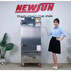 Tủ Nấu Cơm 36 Kg Gạo/ Mẻ Bằng Gas 12 Khay Nhập Khẩu NEWSUN - Hàng Chính Hãng