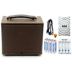 Combo Ampli AGA SC-40B-III (8 Pin & Bộ sạc AA) - Cho Đàn Guitar & Nhạc cụ mộc Acoustic (công suất 40W) - Bộ khuyếch đại âm thanh Amplifier Amply SC40B - Kèm Móng Gẩy DreamMaker