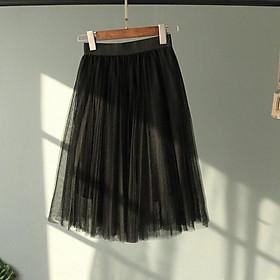 Chân váy dài xòe công chúa ren ulzzang
