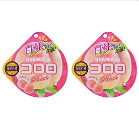 2 Gói Kẹo Dẻo Vị Ðào UHA Kororo Nhật Bản (40g)