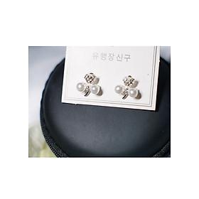 Hình đại diện sản phẩm Bông tai Hàn Quốc - Hoa tai đẹp sang chảnh - Khuyên tai đi dự tiệc, đám cưới, sinh nhật xinh xắn - Mẫu 40