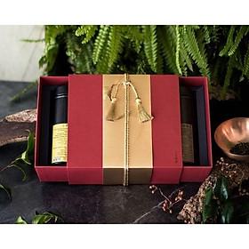 Hộp quà tặng hồng trà Xiaocha Zaitang - Trà ô long quế hoa+Trà ô long đen