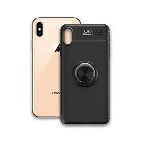 Ốp điện thoại Iphone XS Max - Chất liệu TPU Carbon Silicone mềm mại, chống bẩn - Iring màu đen - Hàng Chính Hãng