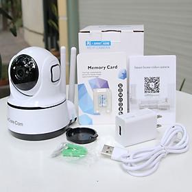 Camera wifi trong nhà CareCam PAF200 2.0MP Full HD, đàm thoại 2 chiều, xoay 360 độ, hỗ trợ thẻ nhớ lên đến 128G, cảnh báo chống trộm- Hàng nhập khẩu