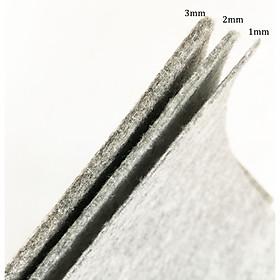 Vải nỉ màu xám siêu dày 3mm phù hợp làm thủ công, giỏ xách, bọc bàn ghế, làm lót cách nhiệt, trải sàn