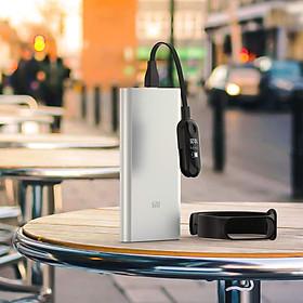 Cáp sạc cho máy Xiaomi Miband 2 / Miband 3 / Miband 4, dài 12cm Mijobs loại tiêu chuẩn - Hàng Nhập Khẩu