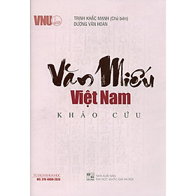 Văn Miếu Việt Nam Khảo Cứu